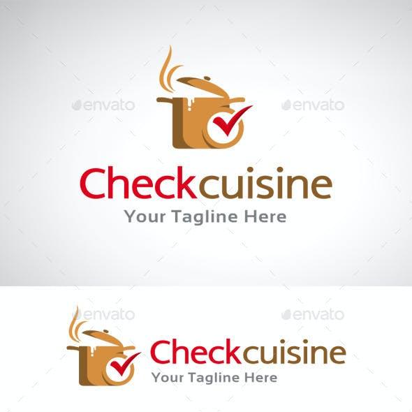 Check Cuisine Logo Template