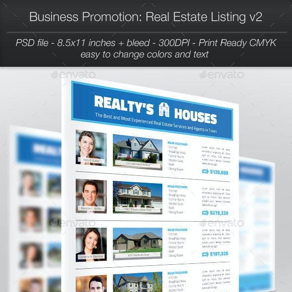 Business Promotion: Real Estate Listing v2