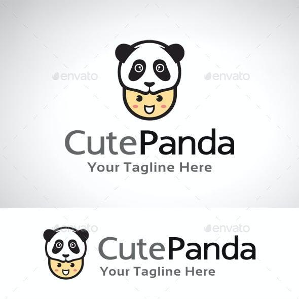Cute Panda Logo Template
