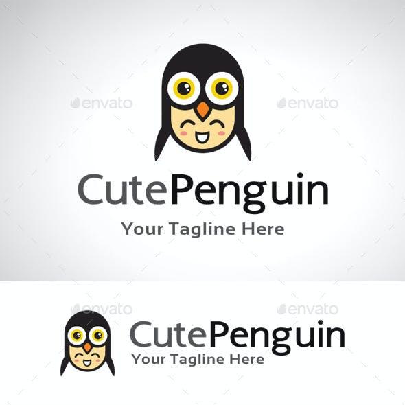 Cute Penguin Logo Template