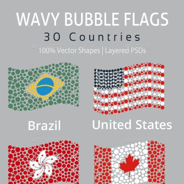 Wavy Bubble Flags
