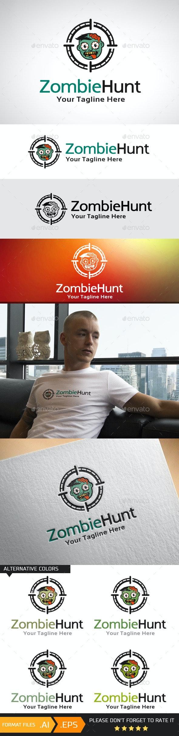 Zombie Hunt Logo Template - Humans Logo Templates