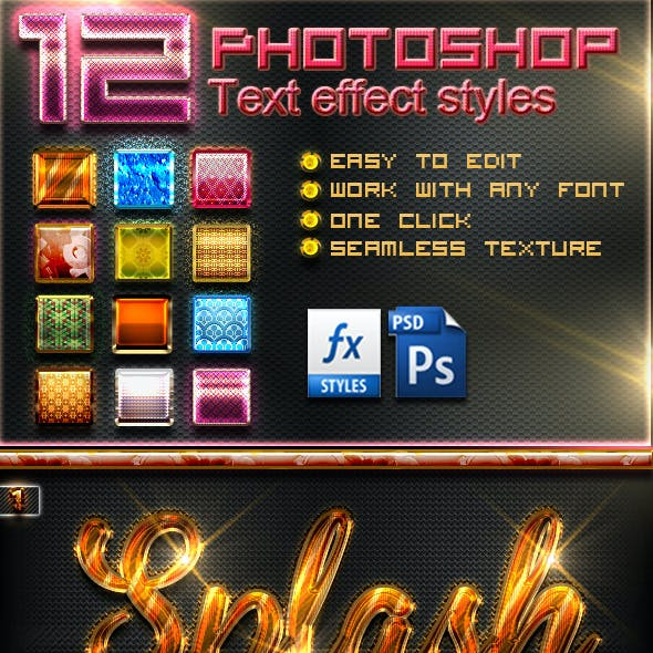 Beautiful, Cinematic, and Effects Photoshop Text Effect Styles