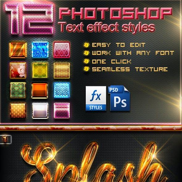 12 Photoshop Text Effect Styles Vol 5