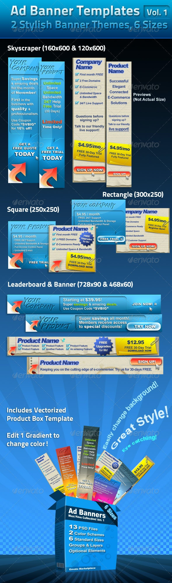 Ad Banner Template Collection Vol. 1 - Web Elements
