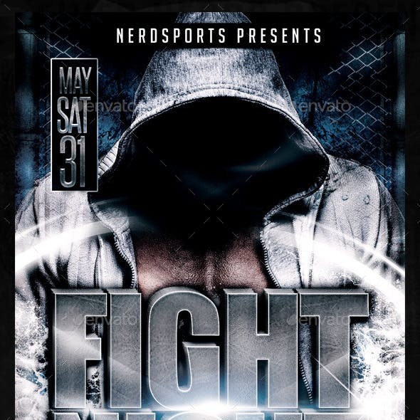 Fight Night Sports Flyer