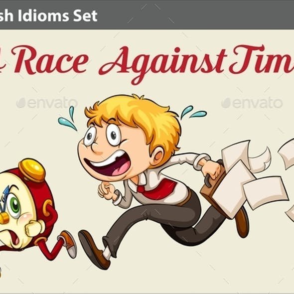 Boy Racing against Time