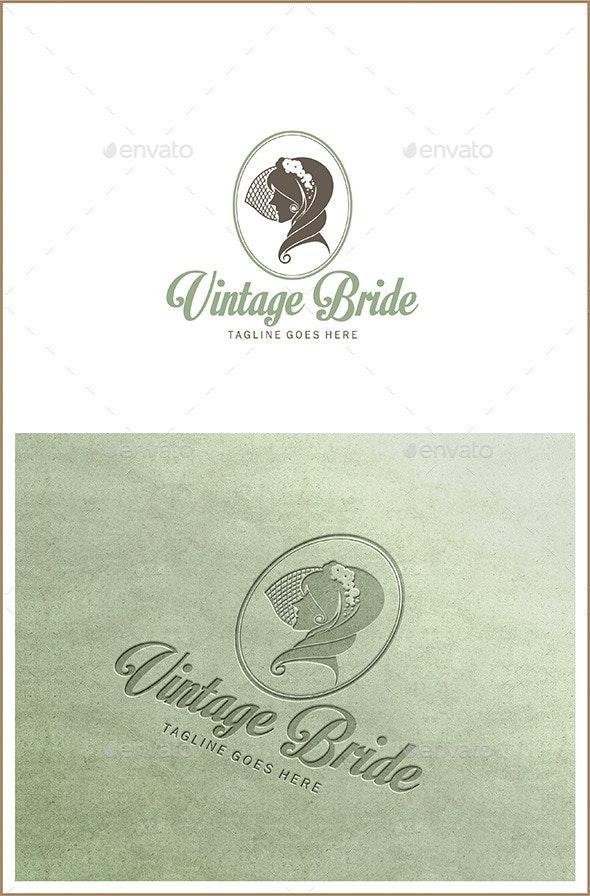 Vintage Bride - Bridal Logo Template - Humans Logo Templates