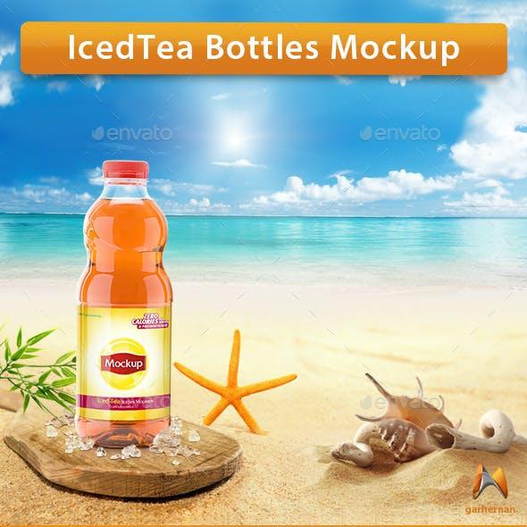 Iced Tea Bottles Mockup