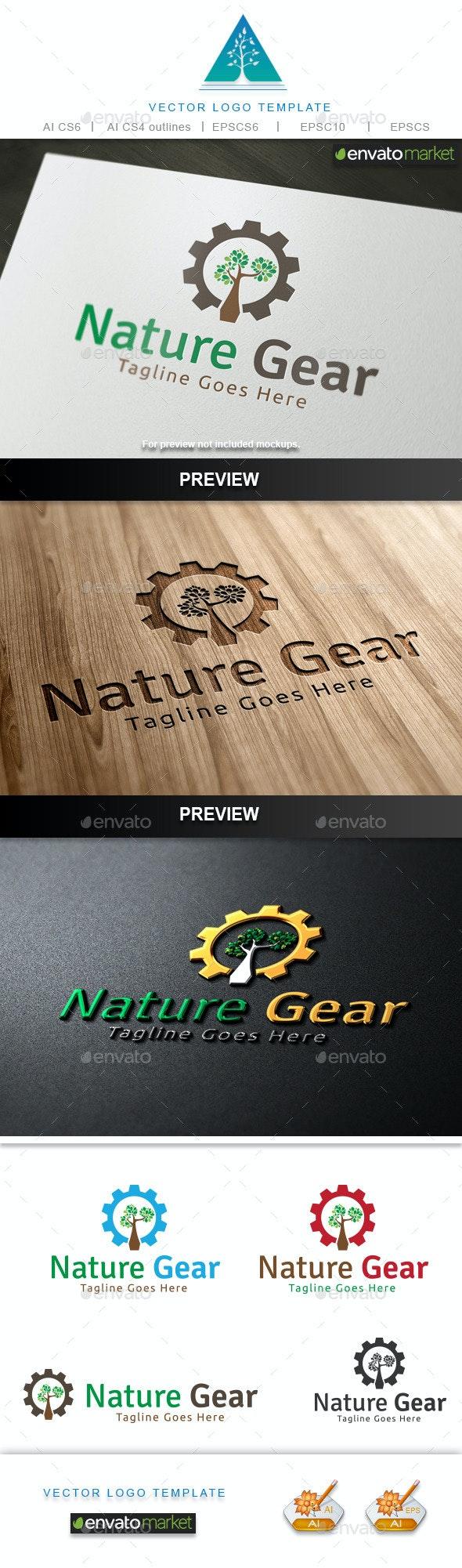 Nature Gear Logo - Symbols Logo Templates