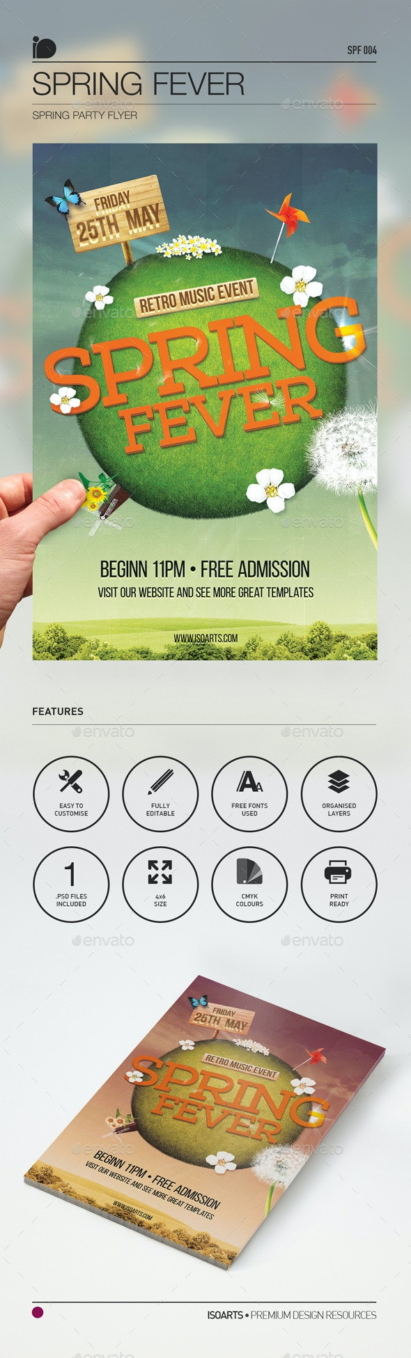 Spring Party Flyer • Spring Fever - Events Flyers