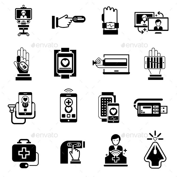 Digital Medicine Icons