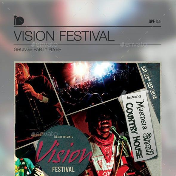 Grunge Party Flyer • Vision Festival