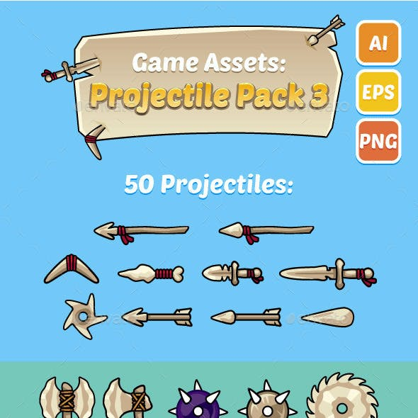 Game Assets: Projectile Pack 3