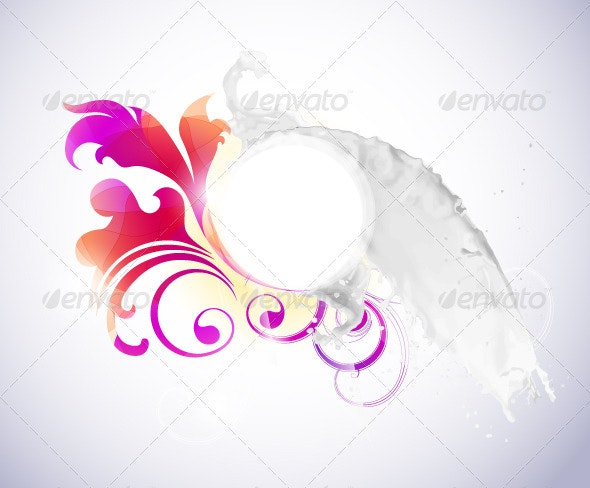 Abstract background with milk splash - Backgrounds Decorative