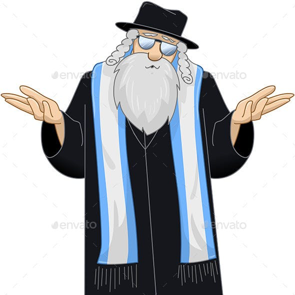 Rabbi with Talit is Unsure
