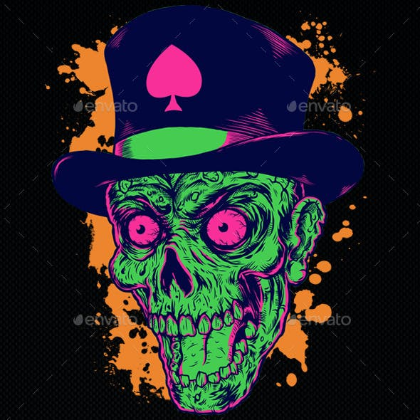 Illustration Head Zombie