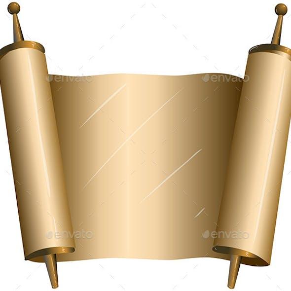 Traditional Jewish Torah Scroll