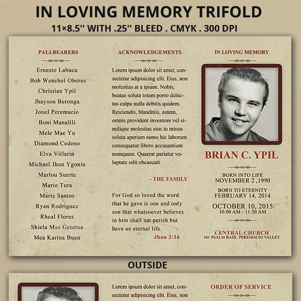 In Loving Memory Trifold