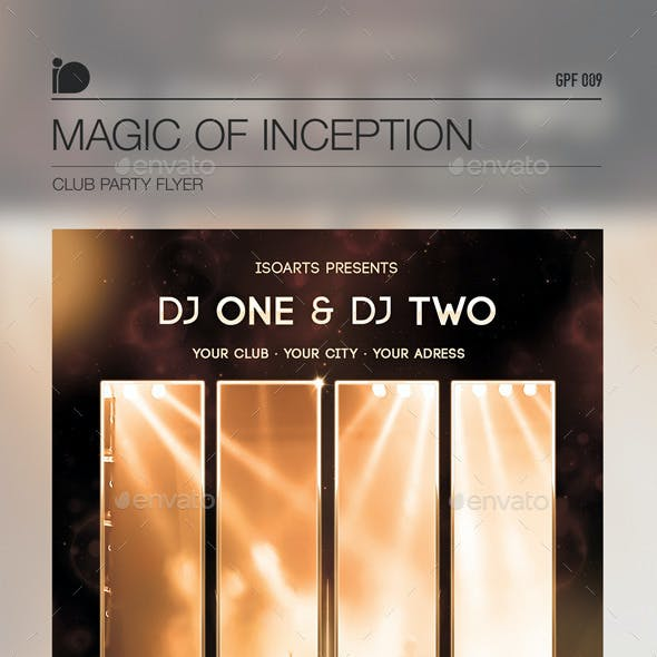 Club Party Flyer • Magic Of Inception