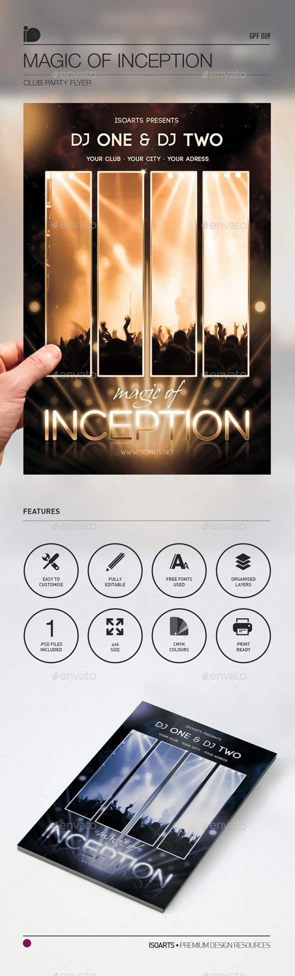 Club Party Flyer • Magic Of Inception - Clubs & Parties Events