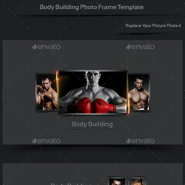 Body Building Photo Frame Template