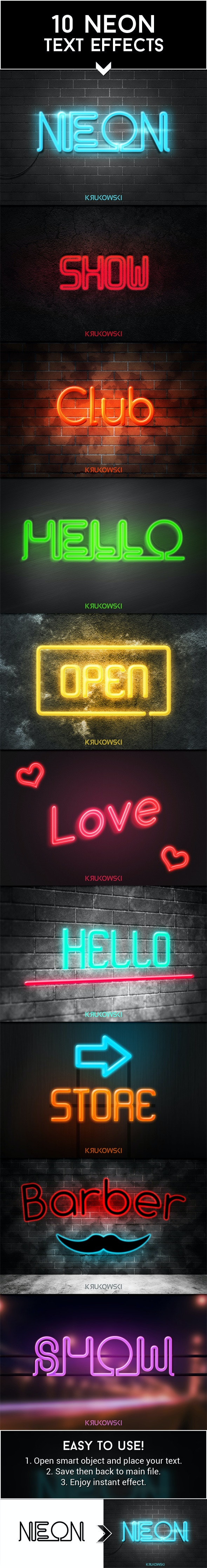 Neon Text Effects - Text Effects Actions