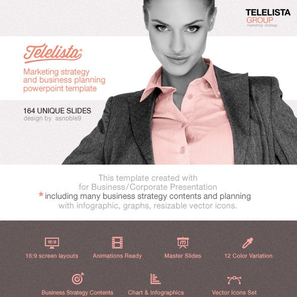 Telelista - Business Strategy PowerPoint