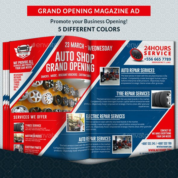 Agency & Shop Grand Opening Magazine Ad