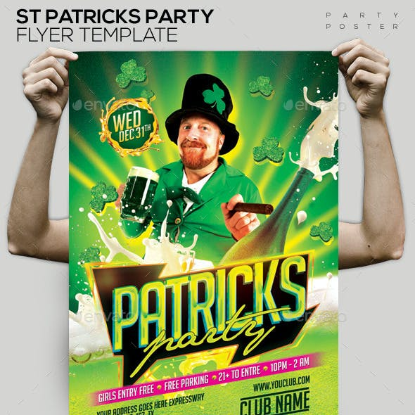 St Patricks Party Template Flyer/Poster