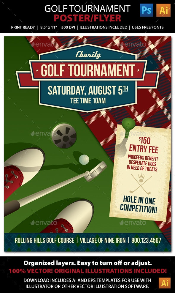 Golf Tournament / Event Poster or Flyer - Sports Events