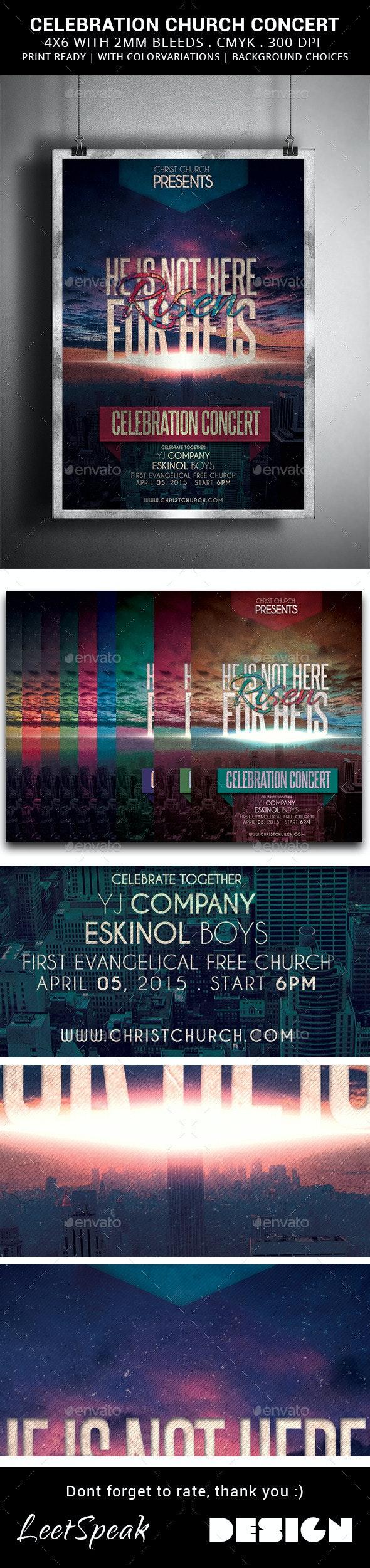 Risen: Celebration Church Concert - Church Flyers