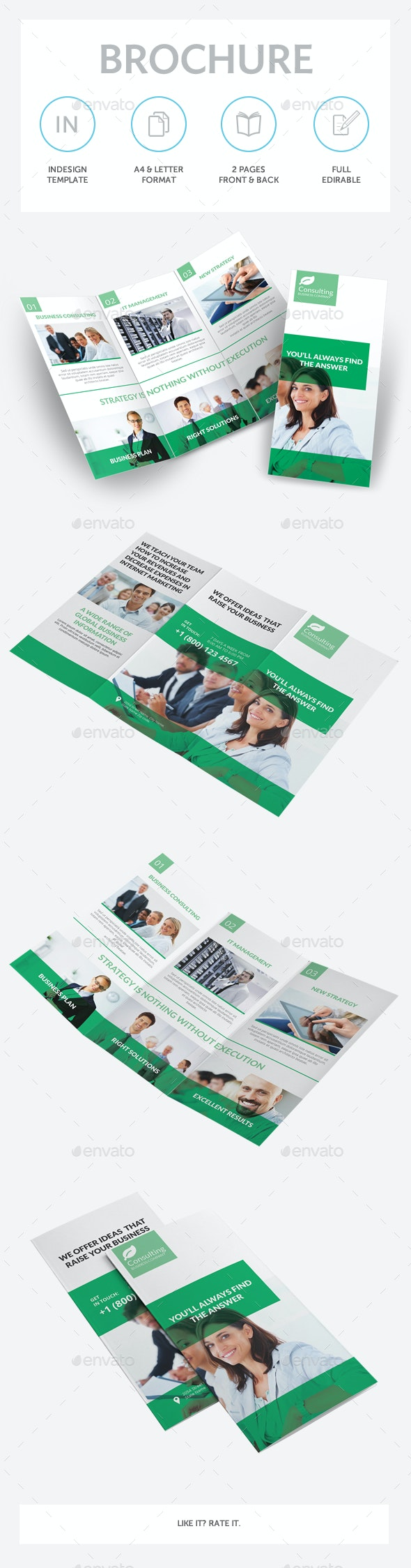 Consulting Services Trifold Brochure - Corporate Brochures