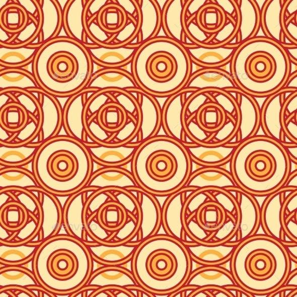 Magical Celtic Circles Seamless Pattern
