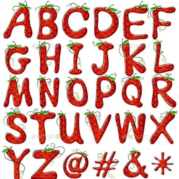 Strawberry Lettering