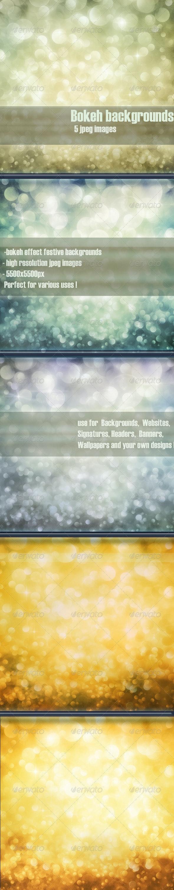 Festive bokeh backgrounds vol.3 - Backgrounds Graphics