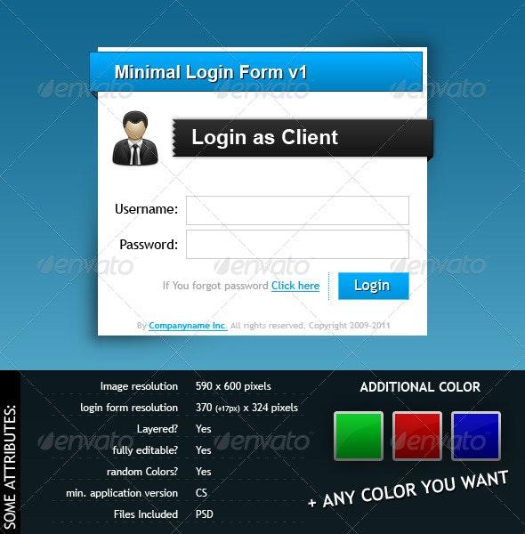 Minimal Login Form - Forms Web Elements