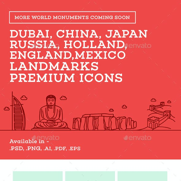 World Landmark Icons - Vol. 2
