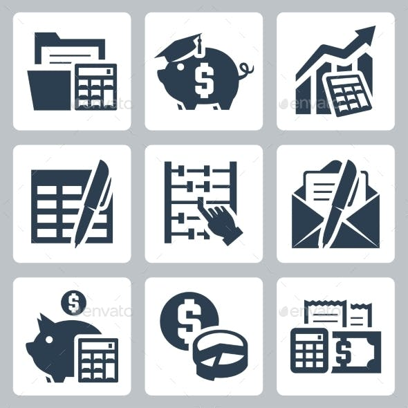 Budget and Accounting Icons