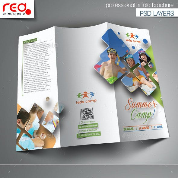 Summer Camp Trifold Brochure Template - 1