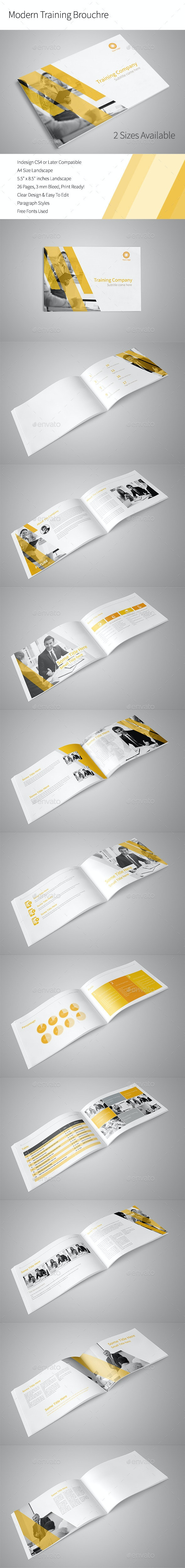 Modern Training Brochure - Portfolio Brochures