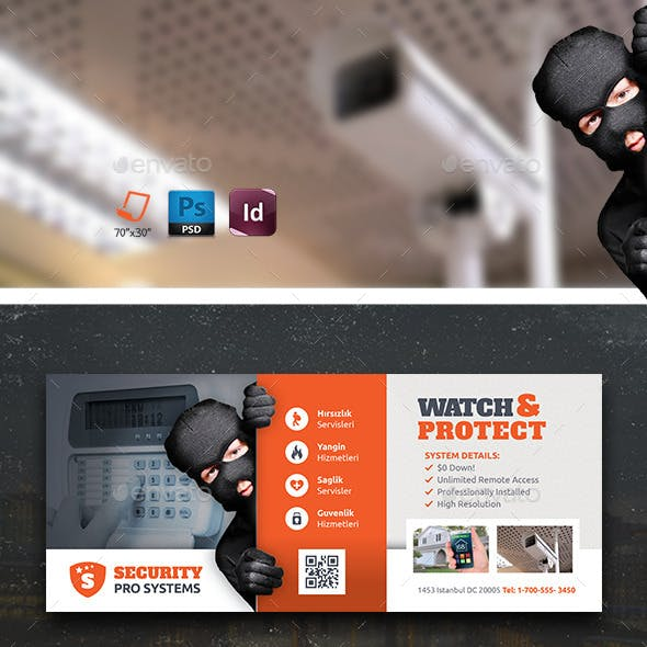 Security Systems Billboard Templates