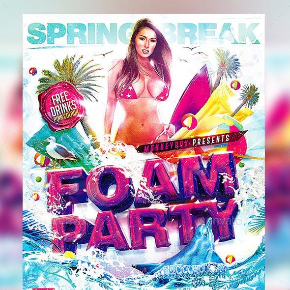 Flyer Foam Party Konnekt
