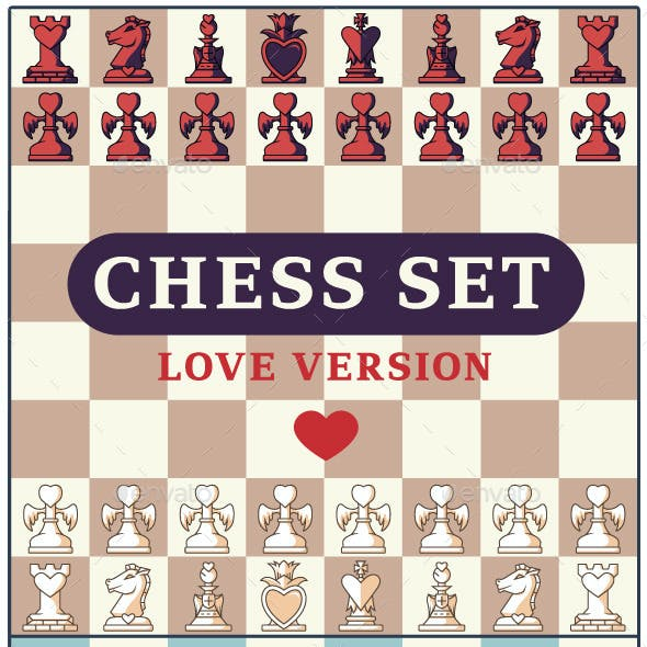 Love Chess Game Set