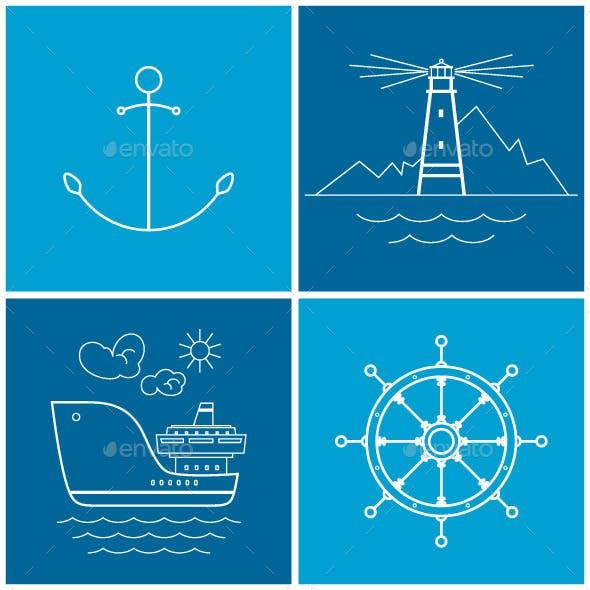 Set of Maritime Icons