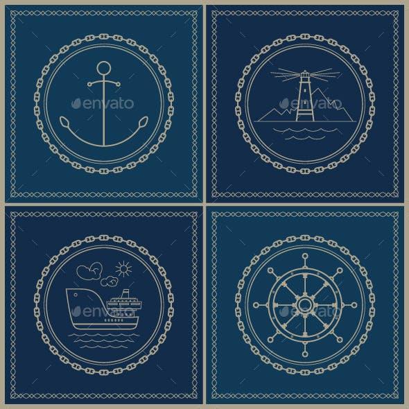 Set of Marine Emblems