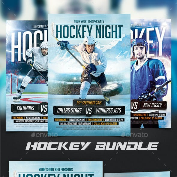 Hockey Flyers Bundle