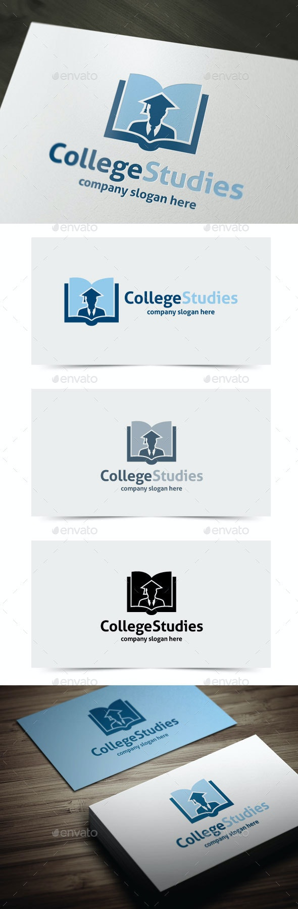 College Studies - College Logo Templates