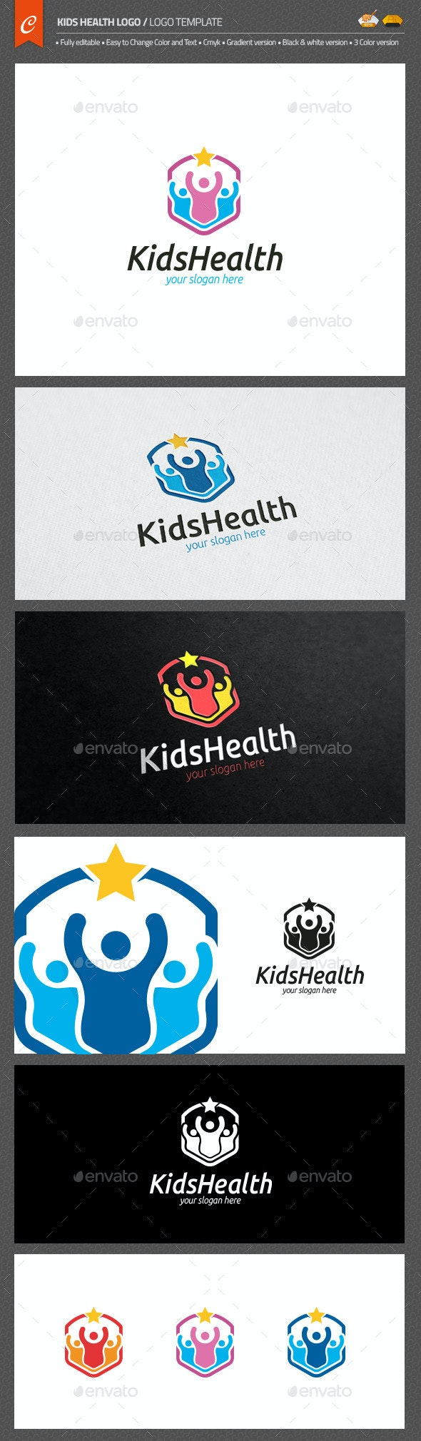 Kids Health Logo - Objects Logo Templates