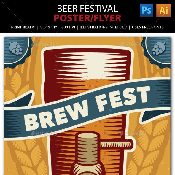 Beer Festival Event Poster or Flyer